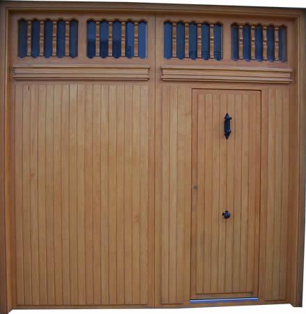 Puertas y portones de madera for Puertas de madera para cochera
