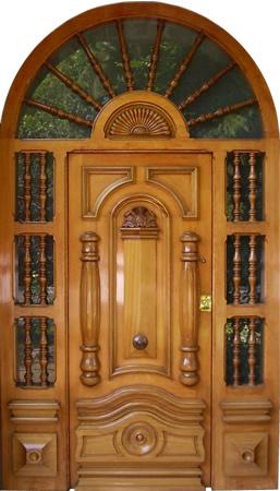 Puertas y portones de madera for Precio de puertas vaiven de madera